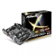 Дънна платка ASRock FM2A68M-DG3+, AMD A68H, FM2+, DDR3 2400+(OC), PCI-E 3.0 (DVI&VGA), Lan1000, 6x SATA 3Gb/s RAID,0,1,10, 2x USB3.0, mATX