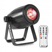 Beamz PS21W reflector LED 12 W 4 en 1 LED RVAB control remoto infrarrojo negro (Sky-151.265)