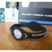 Balanční náramek s hologramem Power Balance - černý-bílý