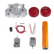 Worker Power Type Straight Grain Modified Flywheel Update Kits for Nerf N-Strike Elite Nerf Stryfe/Rapidstrike CS-18 - Red