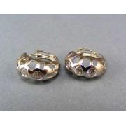 Zlaté náušnice biele zlato vyrezávane s kamienkami VA387/2