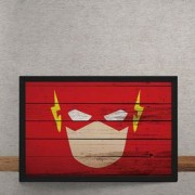 Quadro Decorativo The Flash Mural Minimalista DC Comics 25x35