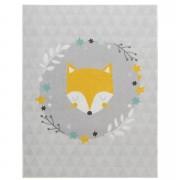 Tapis Mood Sleepy Fox - bleu - 95x125 cm - Leen Bakker