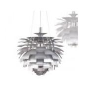Lampara artichoke plata 60 cm