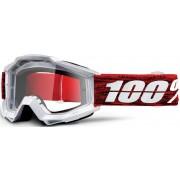 100% Accuri Graham Óculos de motocross Branco Vermelho único tamanho