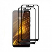 Set 2 folii protectie sticla securizata fullsize pentru Xiaomi Pocophone F1 negru