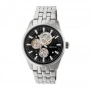 Heritor Automatic Stanley Semi-Skeleton Bracelet Watch - Silver/Black HERHR6502