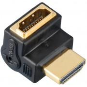 Hama Adapter kątowy HDMI GN. 90° - HDMI WT.