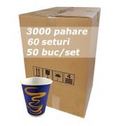 Pahar carton 7oz Blue INN bax 3000buc