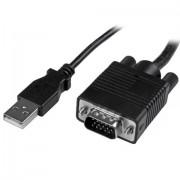 StarTech.com Adattatore crash cart portatile per PC con alloggio robusto - Console KVM USB con trasferimento di file e Acquisizione Video