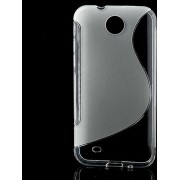 S-Line Wave TPU Case HTC Desire 300 Transparant