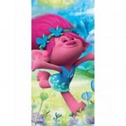 Geen Trolls happy Poppy badlaken 70 x 140 cm