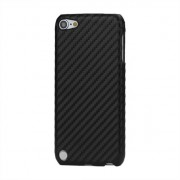 Carbon fiber style hoesje iPod Touch 5 en 6 hardcase beschermhoes zwart