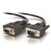 C2G 5m DB9 RS232 M/F Extension Cable - Black