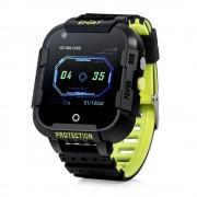 Ceas Inteligent pentru copii WONLEX KT12 4G Negru, cu GPS, apelare video, rezistent la apa, localizare WiFI si monitorizare spion