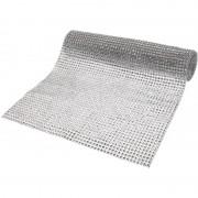 Geen Decostof/tafelloper zilver 25 x 200 cm