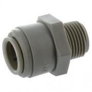 DMFit Raccord droit tube 1/2 pouce - Filetage 3/8 Pouce