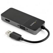 StarTech.com USB32HDVGA USB grafische adapter 3840 x 2160 Pixels Zwart, Zilver