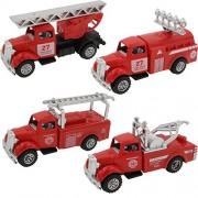Sinyum 4 Cars In 1 Set Die - Metal Playset Toy Vehicle Models Diecast Fire Truck Emergency Vehicles Mini Model Preschool Learning Toys For Boys Kids