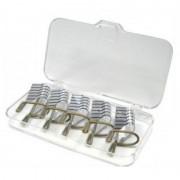 Sabloane Refolosibile Argintii pentru Unghii - Set 5 bucati