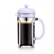 Bodum CAFFETTIERA Cafetière à piston, 8 tasses, 1.0 l, en plastique Verbena