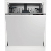 Beko DIN26410 Fully Integrated Standard Dishwasher - Silver Control Panel with Fixed Door Fixing Kit - A+ Rated