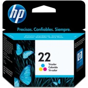 Cartucho Original de Tinta HP 22-Tricolor