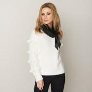 Micha-tröja med volanger, vit (Stl: S, M, L, XL, )