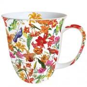 AMB.18411515 Paradise Birds white porcelán bögre 0,4l
