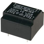 150.12-2 - Printtrafo, 0,33 VA, 12 V, 27,5 mA, RM 15 mm