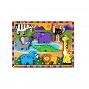 Puzzle lemn in relief Safari