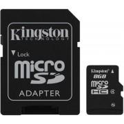 Kingston Micro Secure Digital (microSD) kartica 8GB + adapter SD