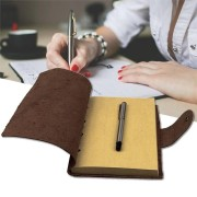 1Pcs Vintage Kraft Paper Notebook Leather Diary Journals Notepad School Office Stationery Supplies