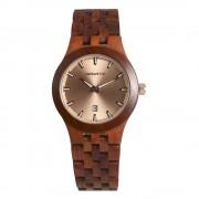 Bedate Women's Classic Bamboo Rose Wood Watch