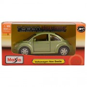 "Maisto Power Kruzerz 4.5"" Pull Back Action - Volkswagen New Beetle Diecast Car (Green)"