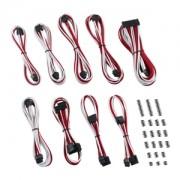 Set cabluri modulare CableMod Classic ModMesh C-Series Corsair RMi & RMx - White/Red, CM-CSR-CKIT-NKWR-R