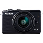 Canon Cámara Mirrorless CANON EOS M100+EF-M15-45MM (Negro - 24.2 MP - Sensor: APS-C - ISO: 100 a 25 600)