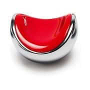 Beslag Design Knopp Clam Krom/röd Beslag Design