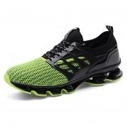 Zapatos Deportivos Amortiguación Para Unisex TK06 - Negro Y Verde