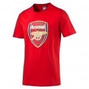 Puma FC Arsenal London Herren Fan Tee T-Shirt Crest - 749297-01 rot