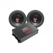 """Paquete MTX Audio Amplificador Monoblock + Par De Subwoofer De 10"""" Road Thunder"""