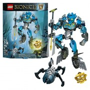 Lego Year 2015 Bionicle Series 8 Inch Tall Figure Set 70786 - GALI Master of Water with 2 BIONICLE Shells Tribal Chest Decoration 2 Shark Fins Convertible Harpoon Elemental Trident Wheel-Operated Bashing Battle Arm Function Plus Golden Mask of Water and a