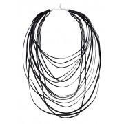 albamoda.de Halskette mehrreihig, schwarz