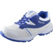 Flex Run Running Shoes For Men(White, Blue)