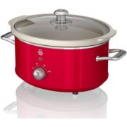 Oala electrica Slow cooker Swan SF17021RN, Retro, Capacitate 3.5 Litri, Vas ceramic
