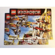 """INSTRUCTION MANUALS for Lego Exo-Force Set #8107 """"FIGHT FOR THE GOLDEN TOWER"""""""