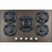 Plita incorporabila Franke Maris Free FHMF 755 4G DC C 106.0541.758, Gaz, 5 arzatoare, Arzator dubla coroana, Aprindere electrica integrata, Dispozitiv de siguranta, Gratare de fonta, Latime 75 cm, Copper Grey