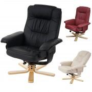 Relaxsessel Fernsehsessel Sessel ohne Hocker M56 Kunstleder bordeaux ~ Variantenangebot