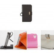 KLD Unique Series Flip Case Hoesje Zwart voor de Apple iPhone 4 / 4S