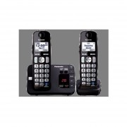 Teléfono Inalámbrico Panasonic Contestadora Digital Con 1 Extensión KX-TGE232B-Negro